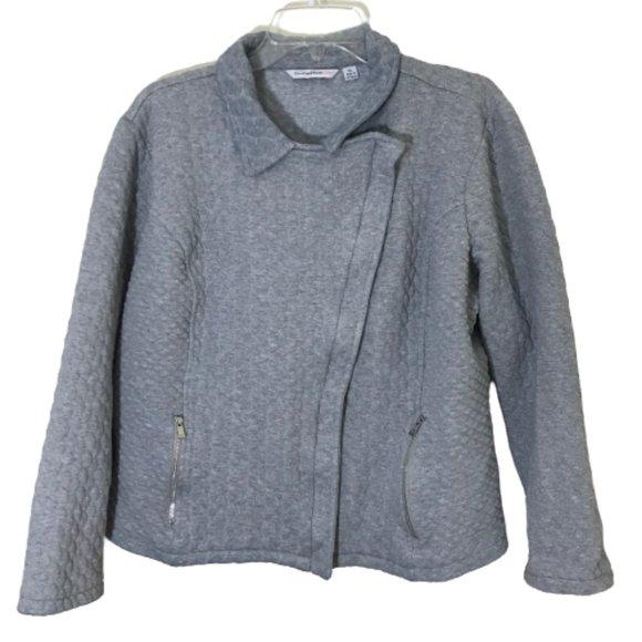 Isaac Mizrahi Live! Quilted Zipper Front Jacket XL